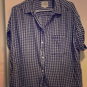 AEO Checkered Button Up XXL
